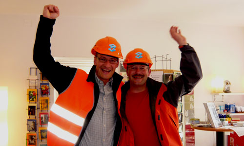 Thomas und Karl Zimmermann in orange