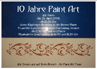 Flyer 10 Jahre Paint Art