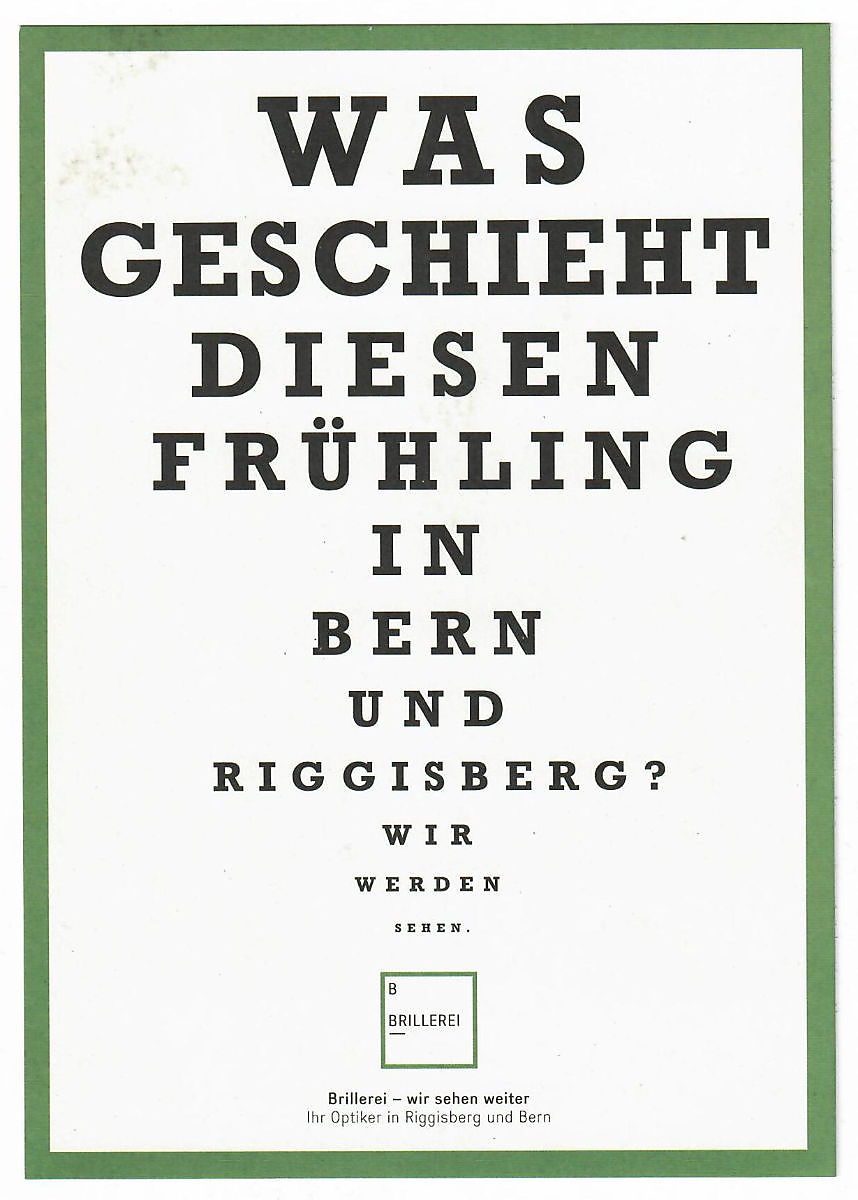 Flyer Brillerei - Optikergeschäft